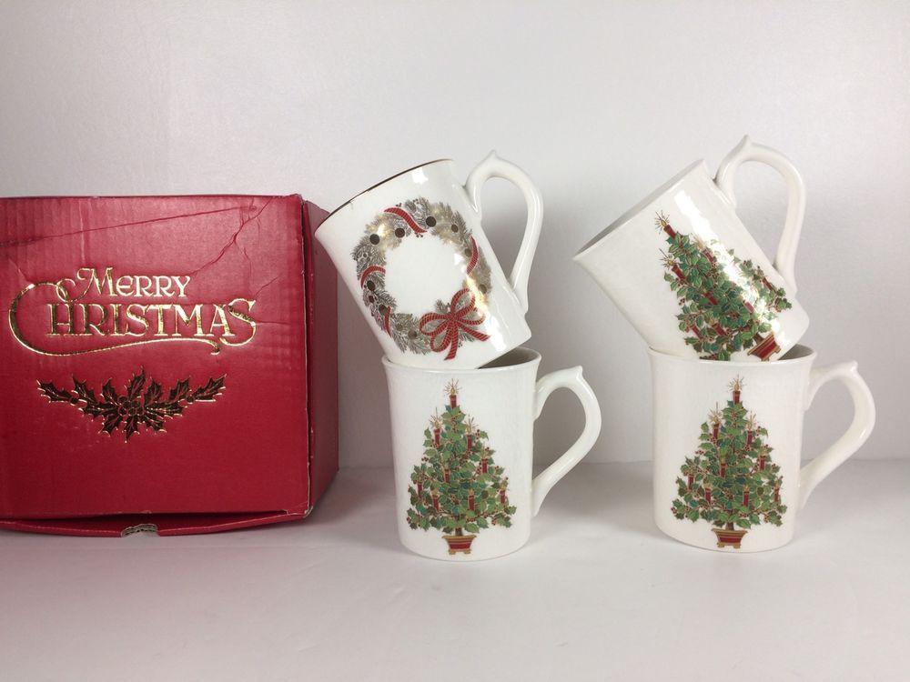 4 otagiri japan gibson greeting cards inc christmas tree wreath 4 otagiri japan gibson greeting cards inc christmas tree wreath ceramic mugs m4hsunfo Choice Image