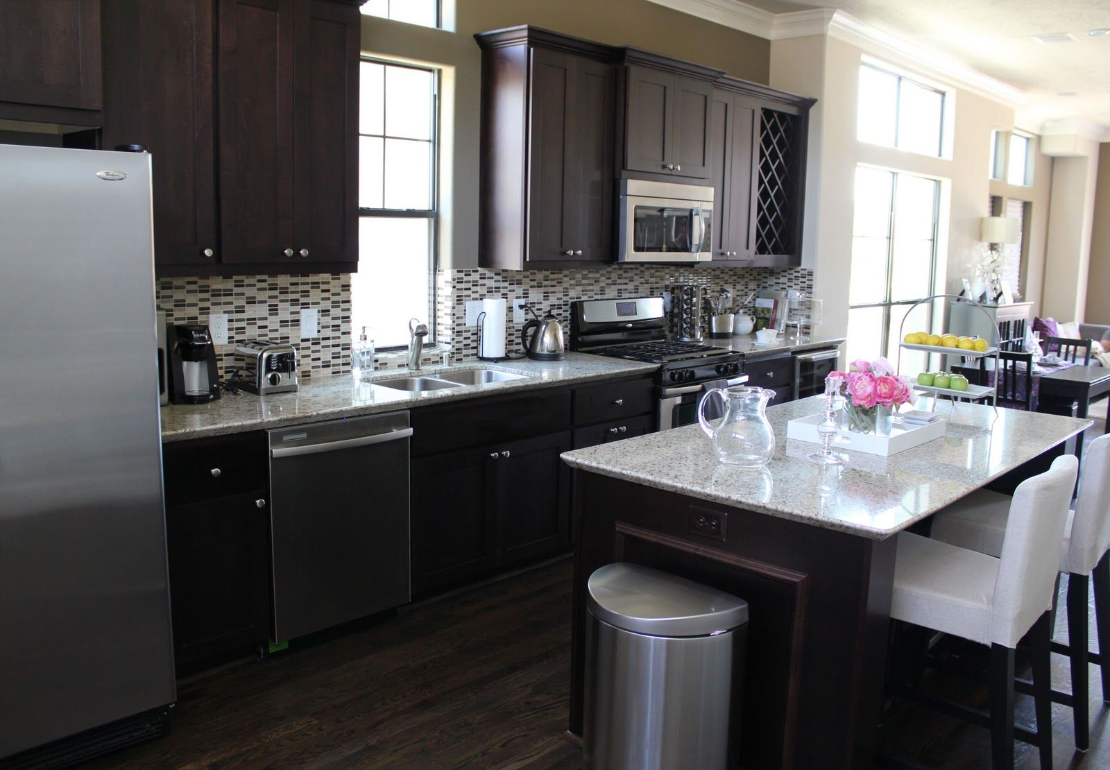 Kitchen Decorations For Countertops My Dream Kitchen Open Concept Dark Cabinets White