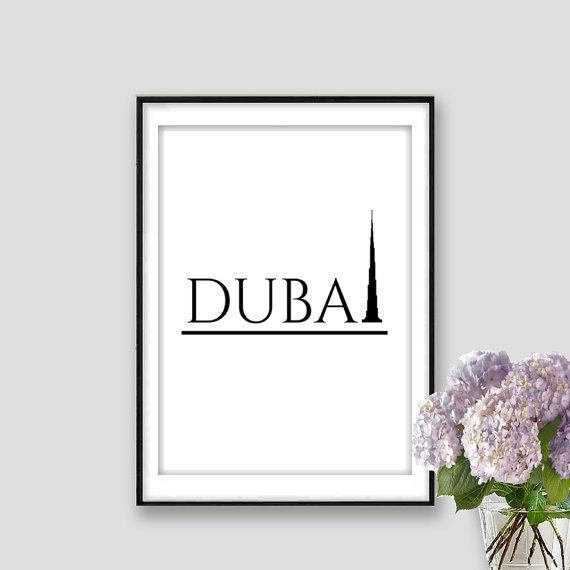 Dubai Print Instant Download Burj Khalifa Print United Arab