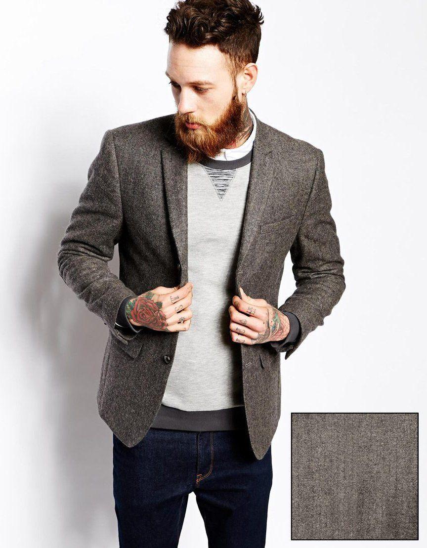 78a1dda1c47d Blazer homme cintré gris - Idée de Costume et vêtement