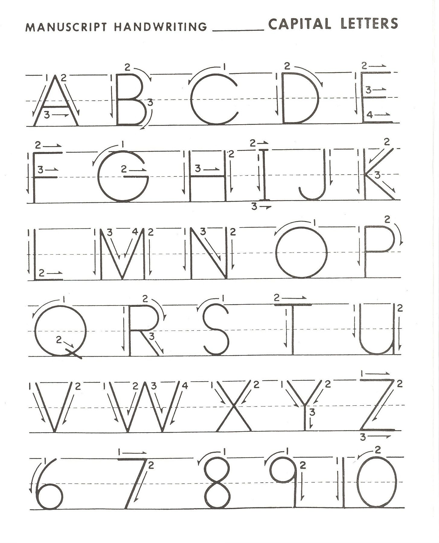 Letter Practice For Preschoolers