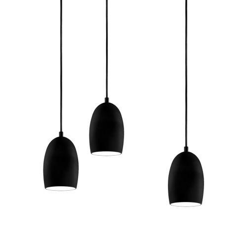 Petite suspension multiple cloche avec abat jour mat Lampe