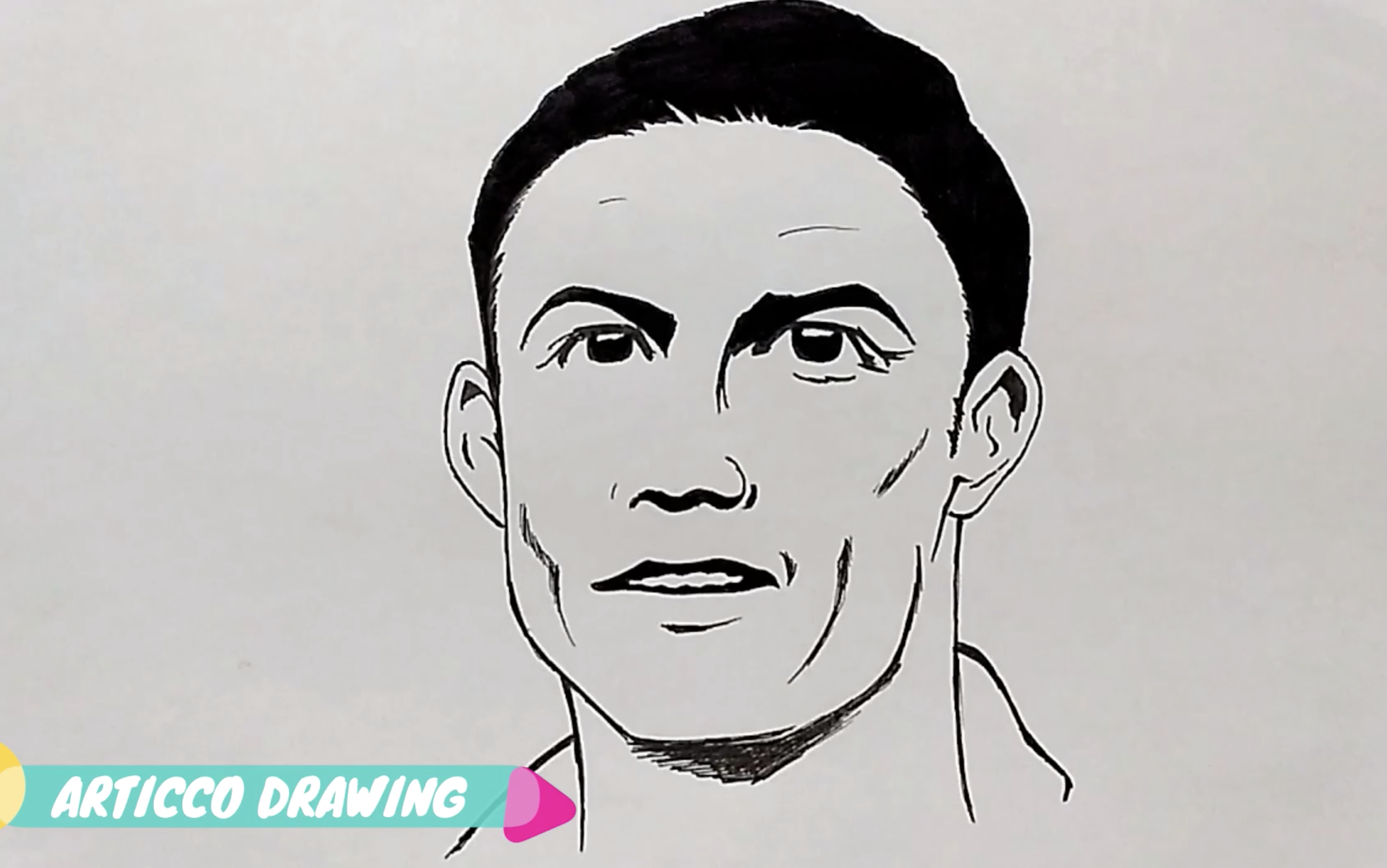 How To Draw Cristiano Ronaldo Drawing Lessons For Kids Drawing Lessons Cute Art