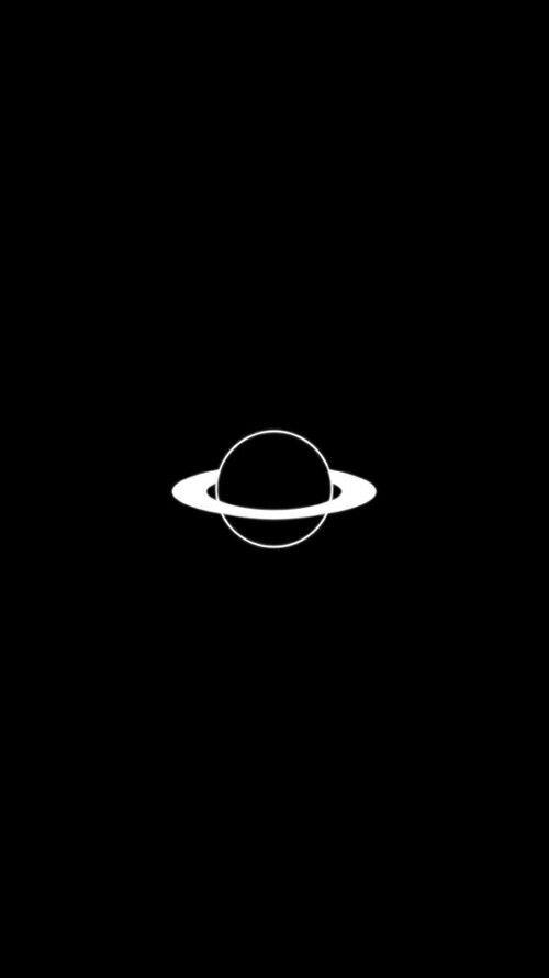 Black Galaxy And Planet Image Sfondi Sfondi Per Iphone