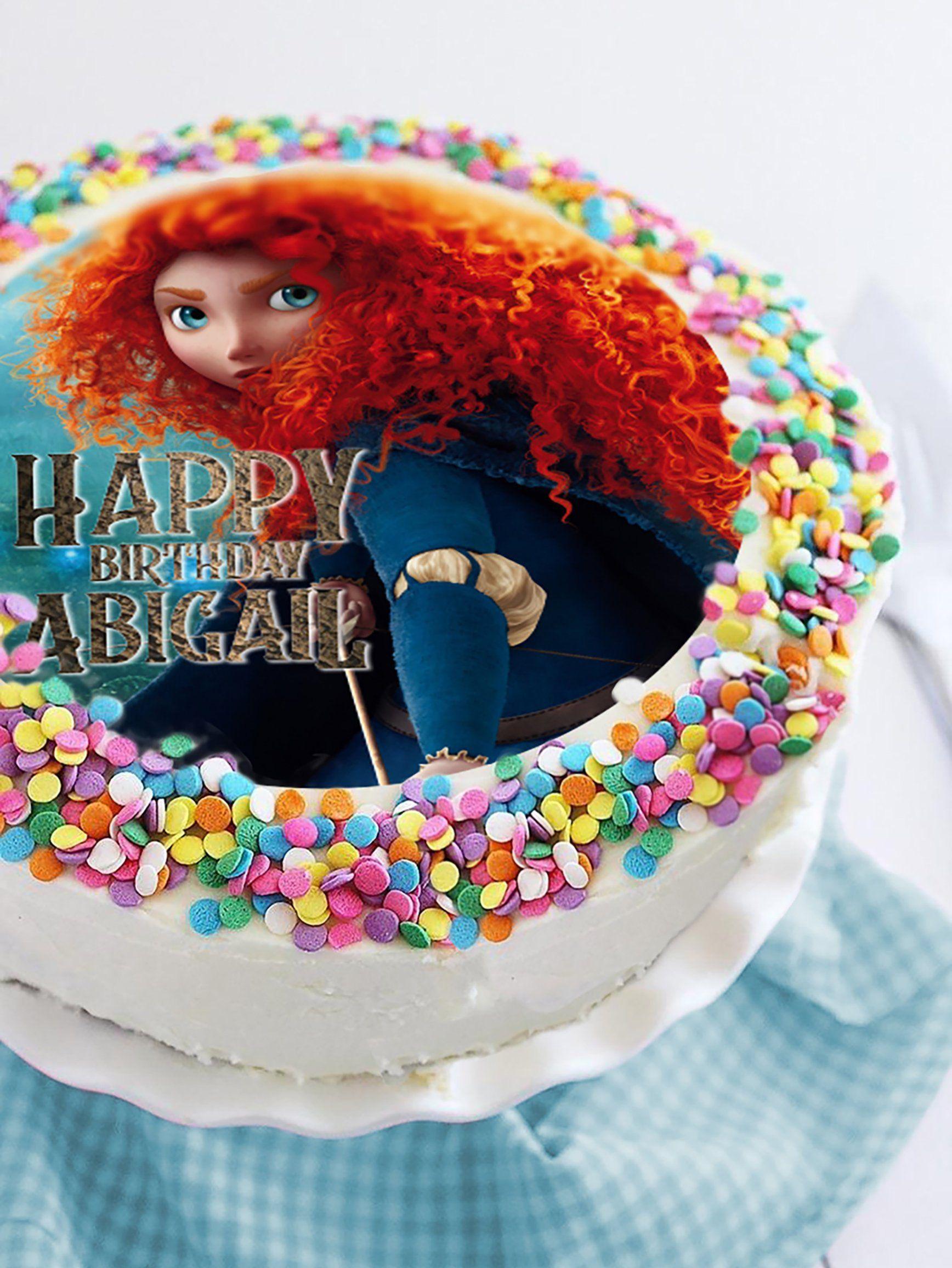 Brave image edible cake topper birthday cake topper