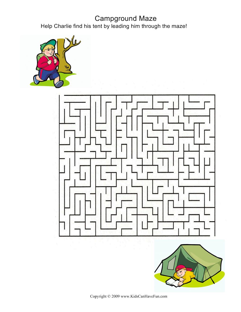 Campground maze