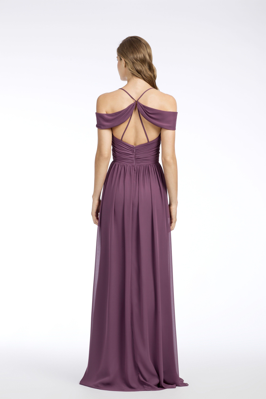 Style 5663 Wisteria chiffon Aline bridesmaid gown, V