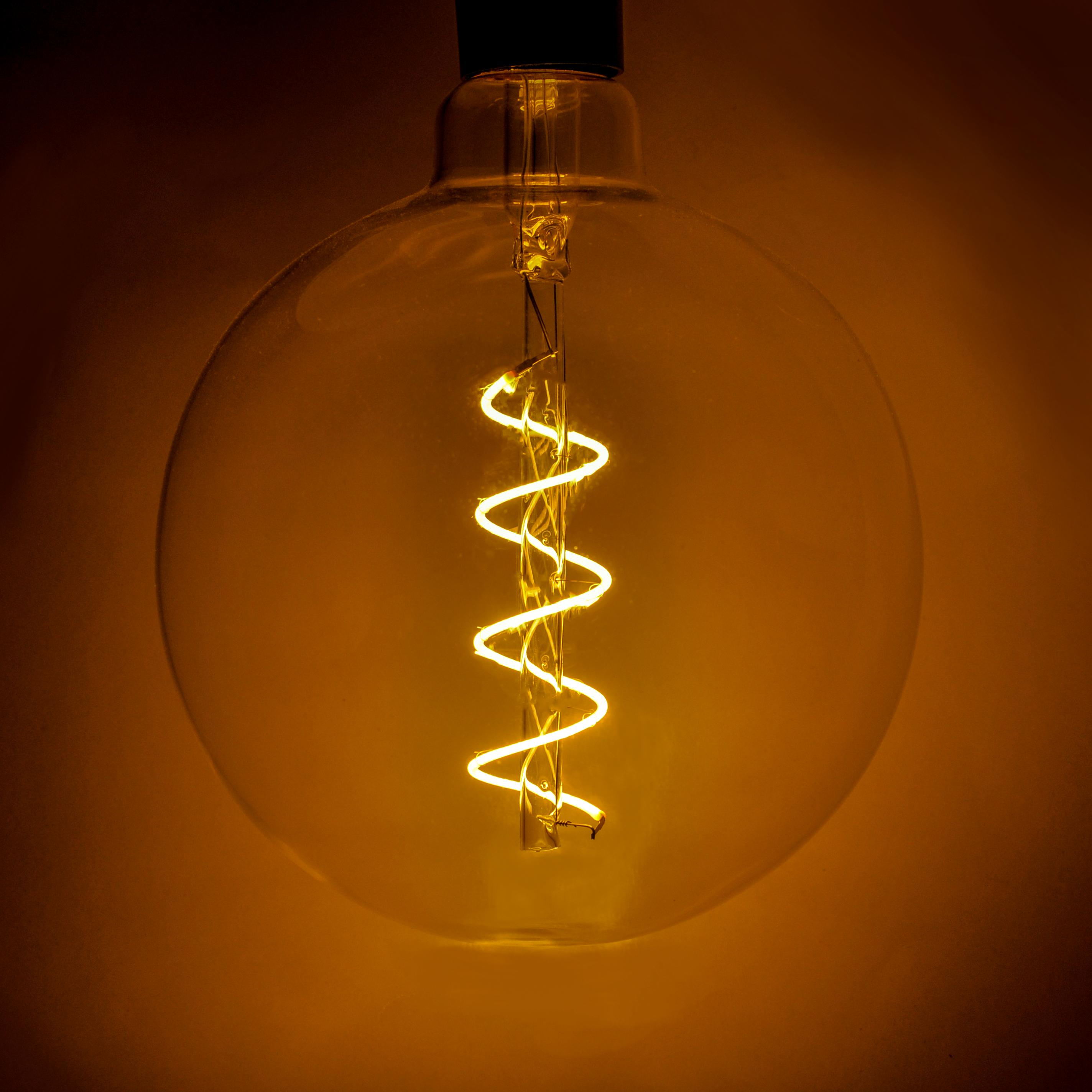 Led G150 6 Inch Spiral Filament 4 Watt Led Light Bulbs Hometown Evolution Inc Dimmable Led Lights Edison Light Bulbs Candelabra Light