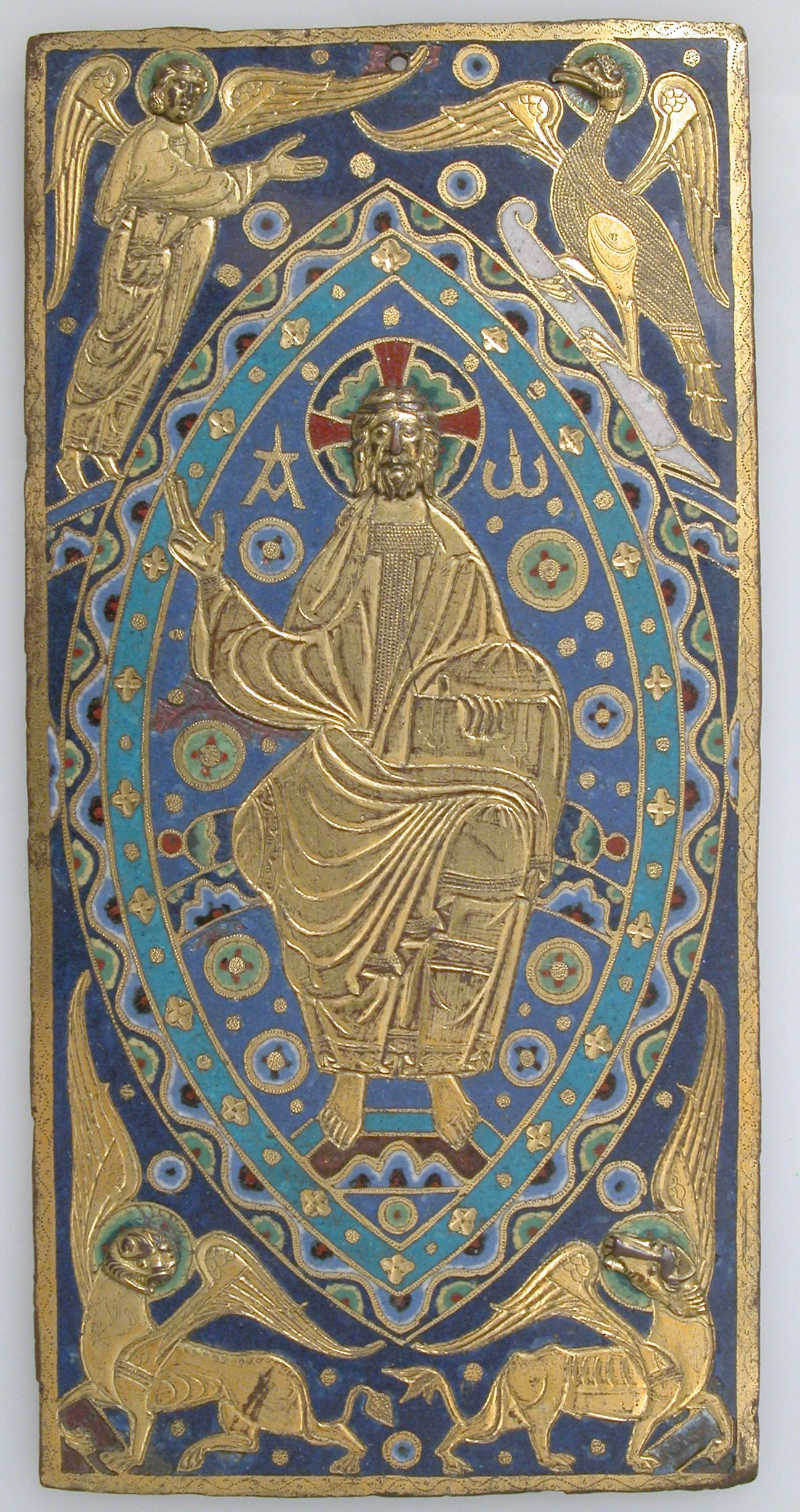 BookCover Plaque with Christ in Majesty // Limoges, ca