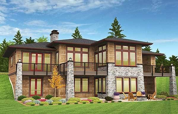 Plan 85126ms Prairie Ranch Home With Walkout Basement Basement House Plans Prairie House Prairie Style Houses