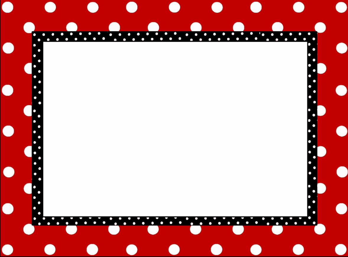 Black And White Polka Dot Page Border Photos | Good Pix Gallery | I