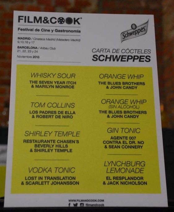Film & Cook  Cine basado en la gastronomía con los mejores cocineros del momento.
