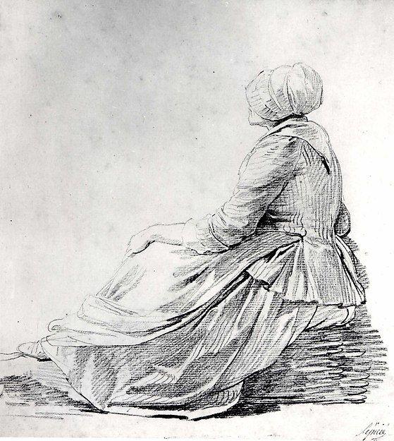 seated woman in profile nicolas bernard lepicie french paris 1735 1784 paris