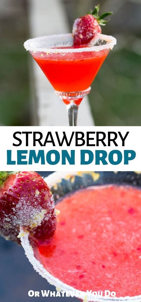 Strawberry Lemon Drop | Easy berry cocktail recipe