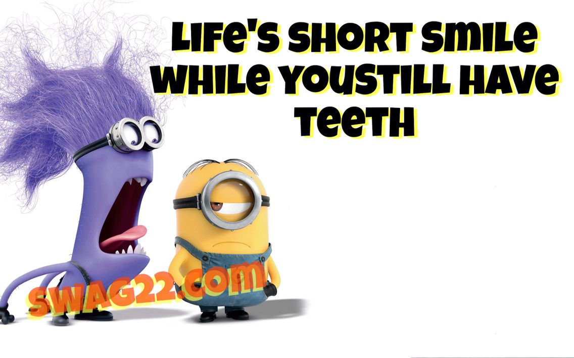 Funny Minion Picture Quote About Life Lol Now Share Ha Ha Ha