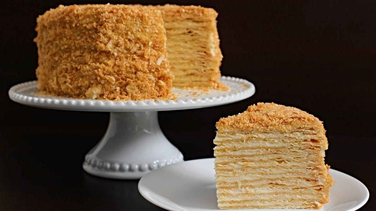 Napoleon cake Recipe | Russian Torte Napoleon #napoleonkuchenrussisch