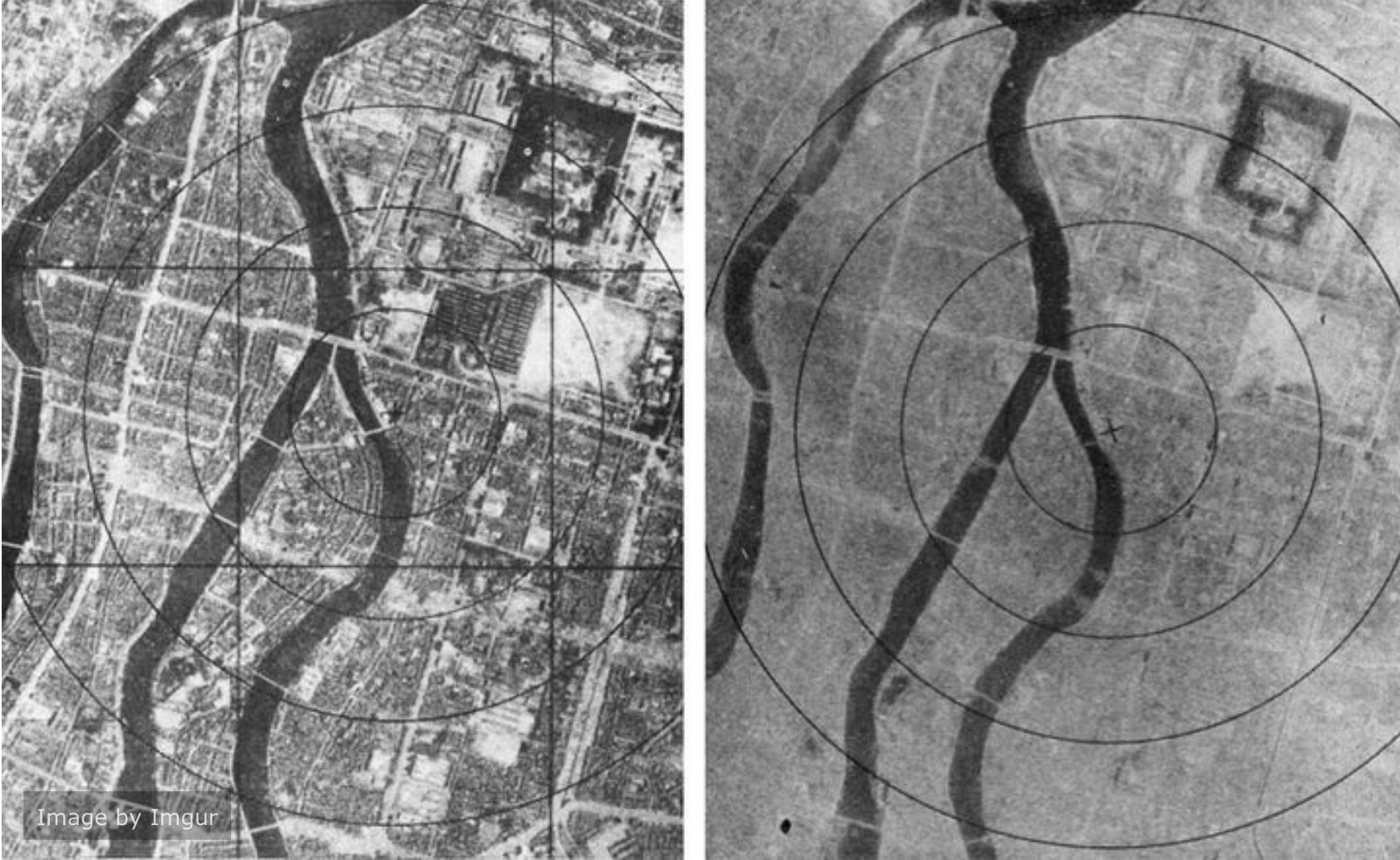 Hiroshima Before And After The Atomic Bomb That Hit On August 6