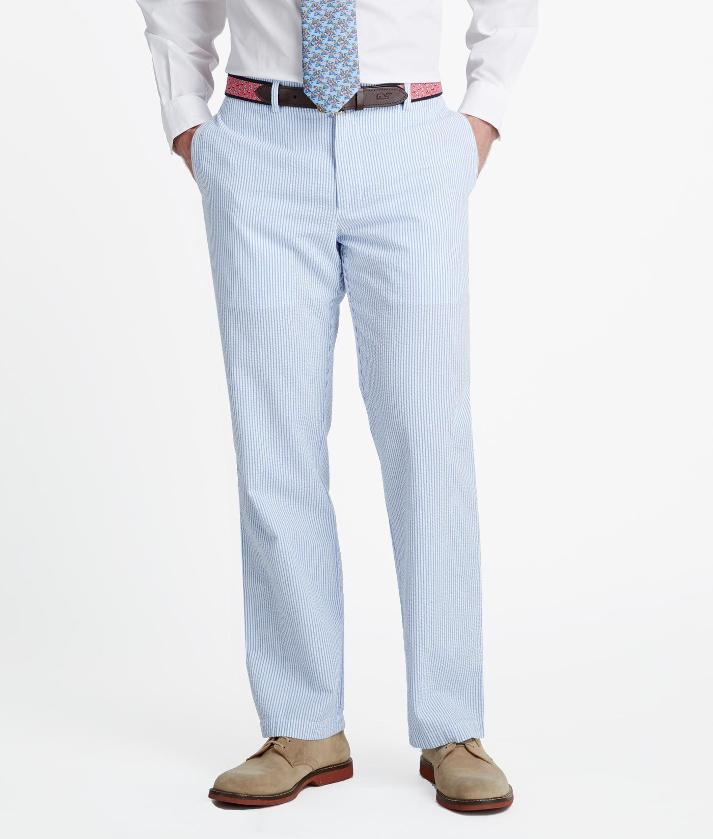 Mens Pants Shop Seersucker Club Pants In Classic Fit For Men