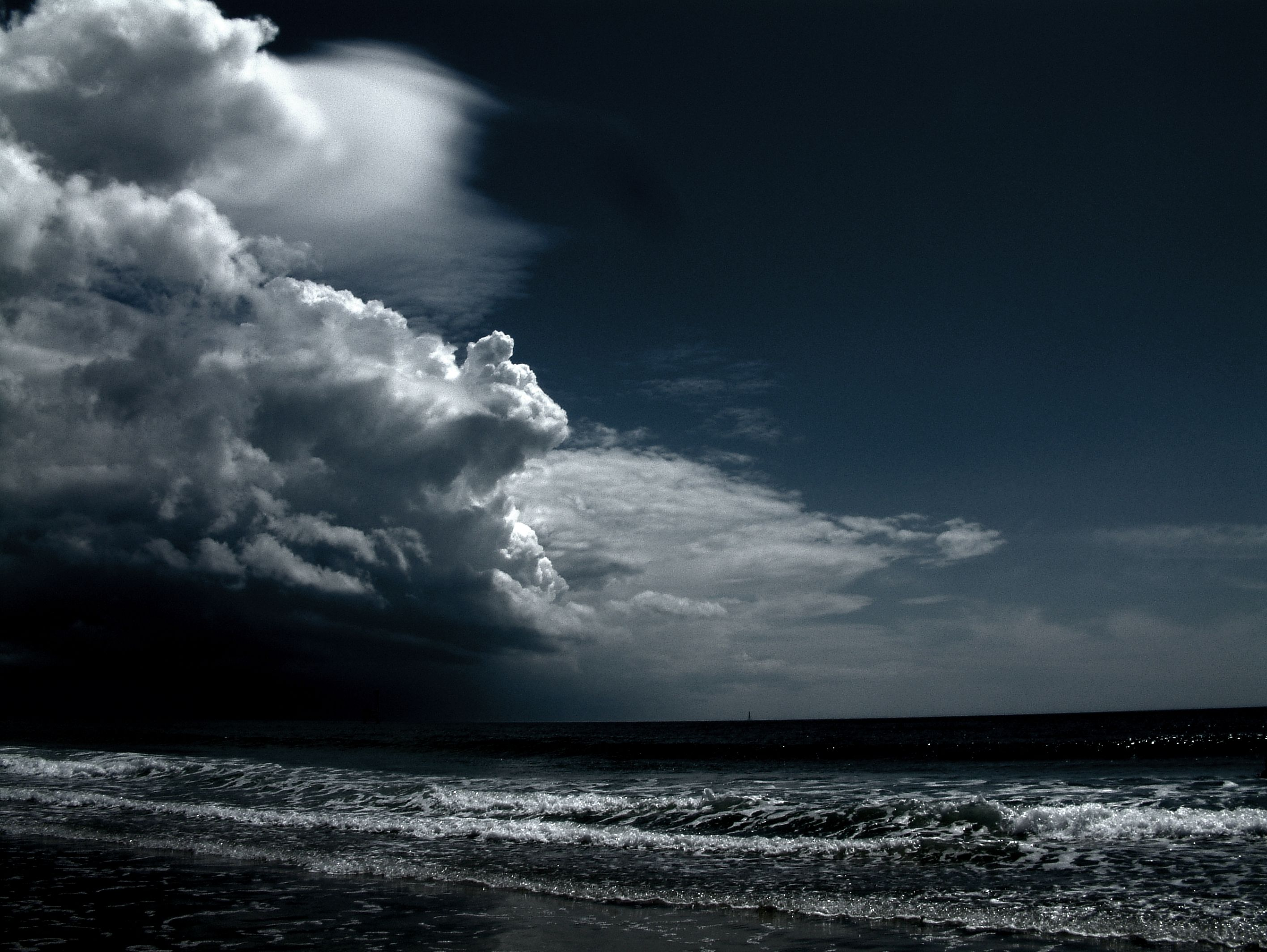 Dark Landscape Inspiration Ocean Wallpaper Dark Landscape Storm Wallpaper