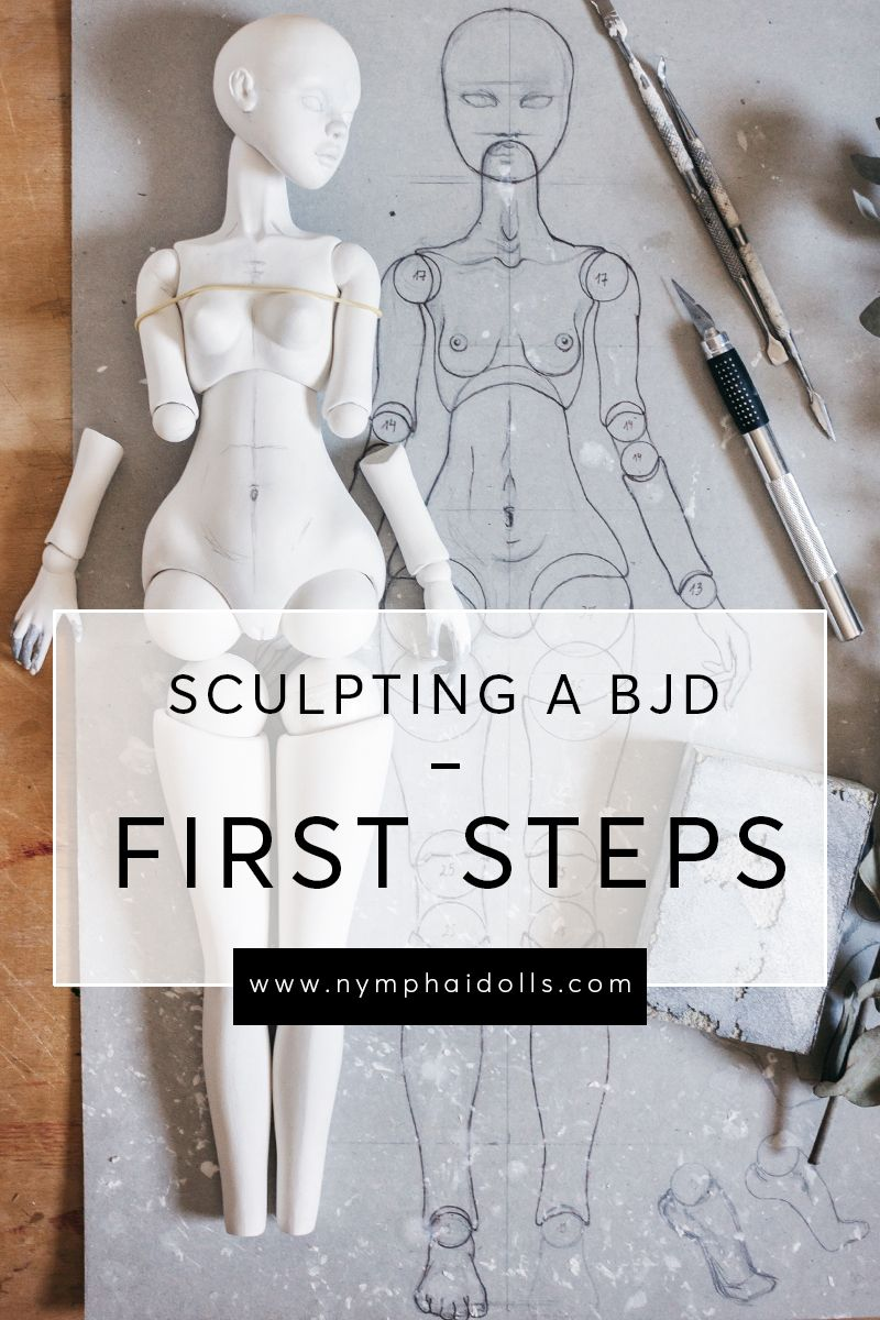Sculpting a BJD from air-dry clay: first steps by Nymphai Dolls #dollmaking