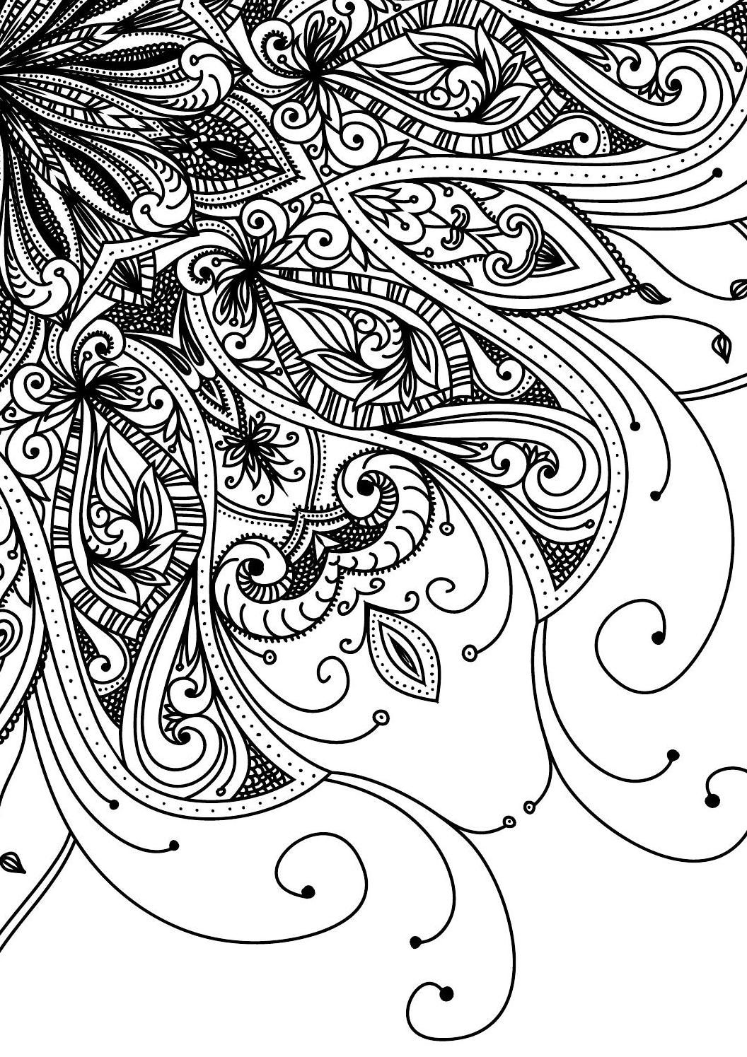 Pin On Coloring Pages For Adults Free Printables [ 1495 x 1056 Pixel ]