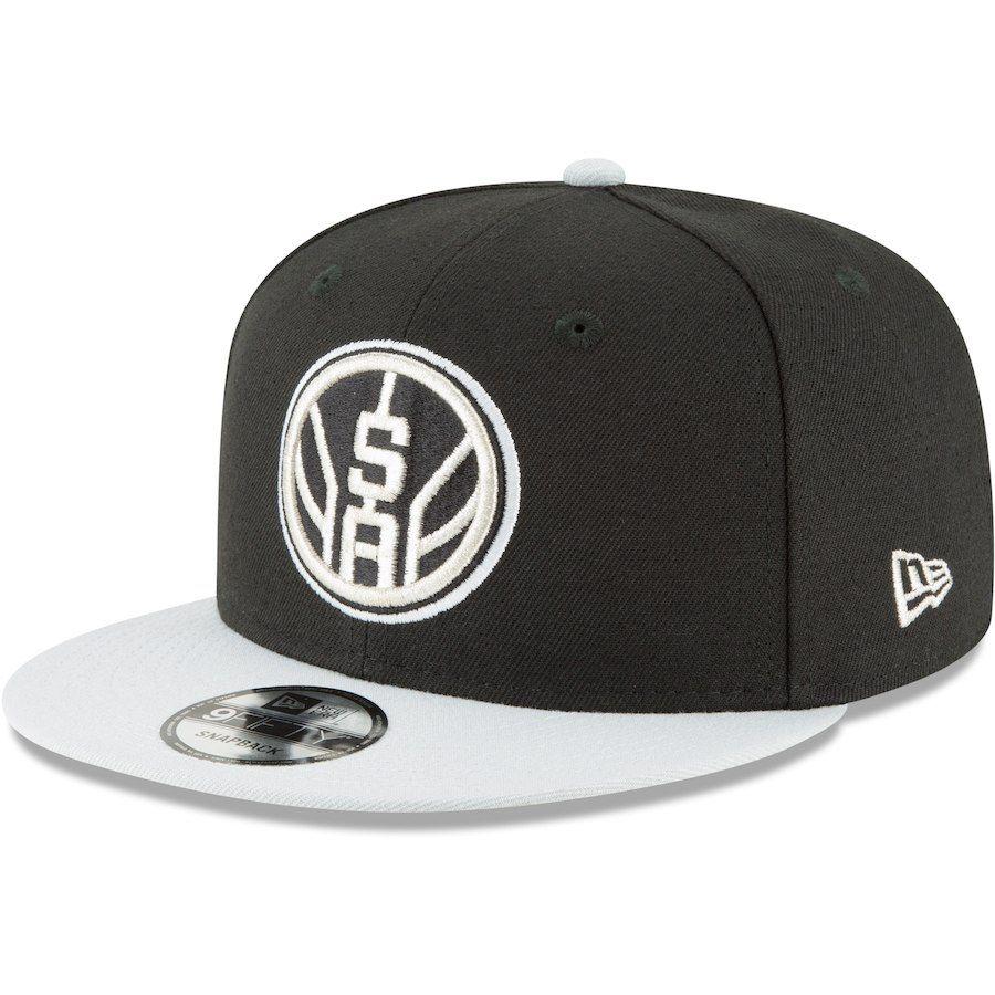 41cc834f1cc Men s San Antonio Spurs New Era Black Gray Two-Tone 9FIFTY Adjustable Hat
