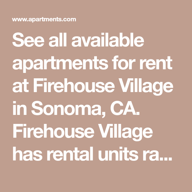 Available Apartments For Rent: See All Available Apartments For Rent At Firehouse Village