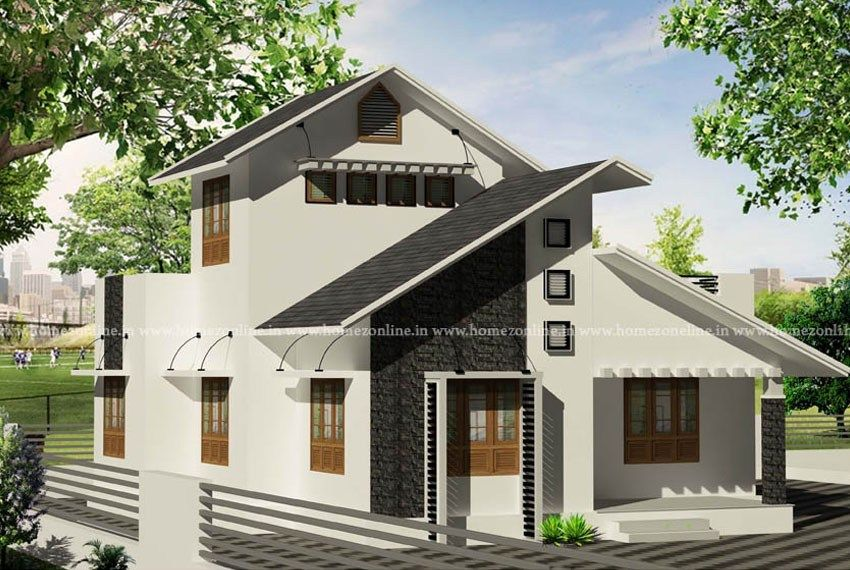 Simple House Design On Sloping Roof Style Simple House Design