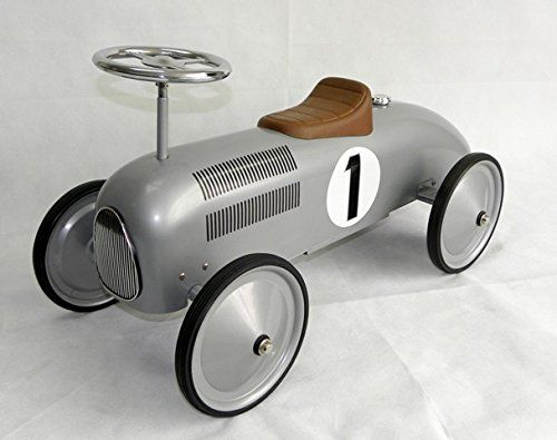 Schylling Silver Racecar Metal Speedster Pedal Cars Ride On Toys Car