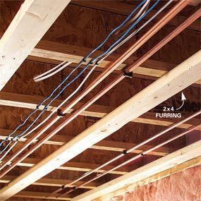Unique Insulating Basement Ceiling