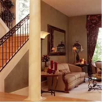 Love the pillar, and stairs
