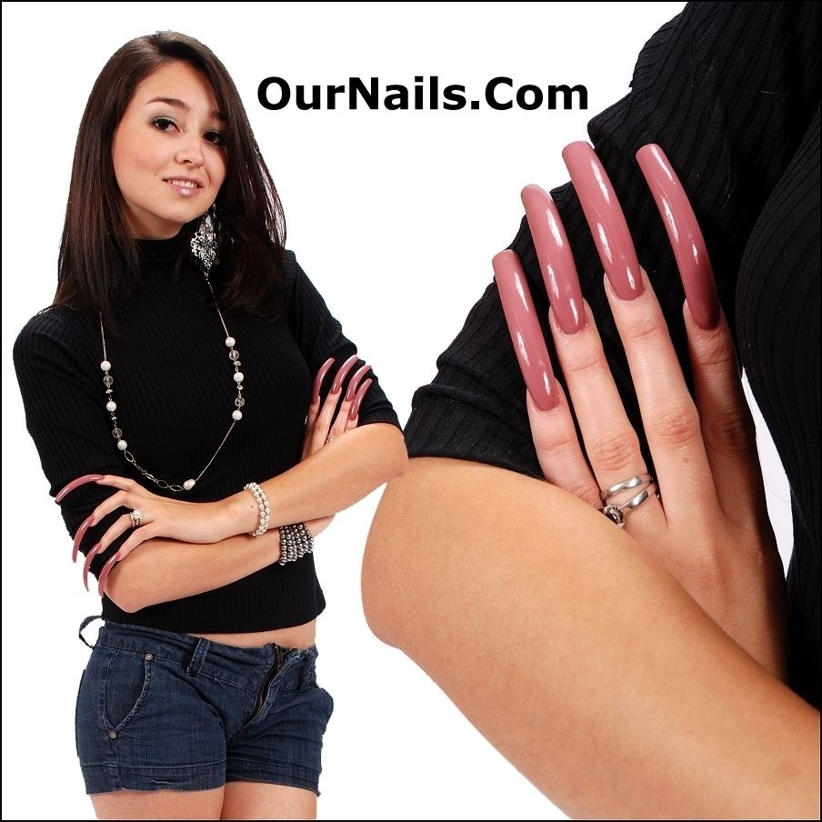 The beautiful Stephanie modeling her gorgeous long nails! . If you ...