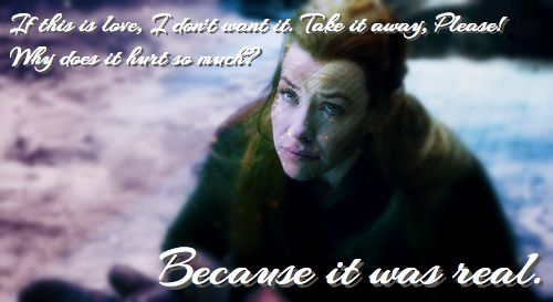 Tauriel's anguish is palpable when she loses her love in The Battle