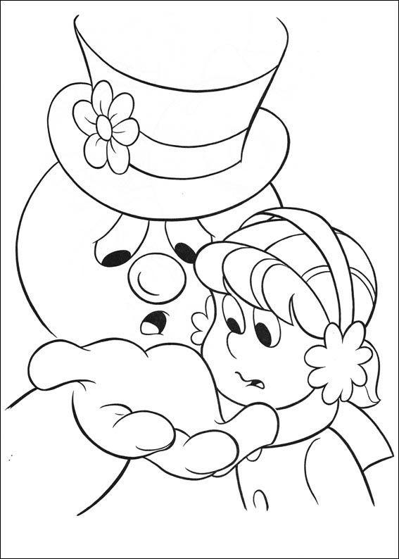 Frosty the Snowman Fargelegging for barn. Tegninger for utskrift og fargelegging nº 10