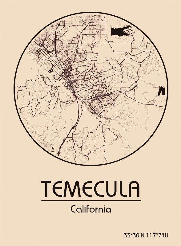 Karte Map Temecula Kalifornien California Vereinigte