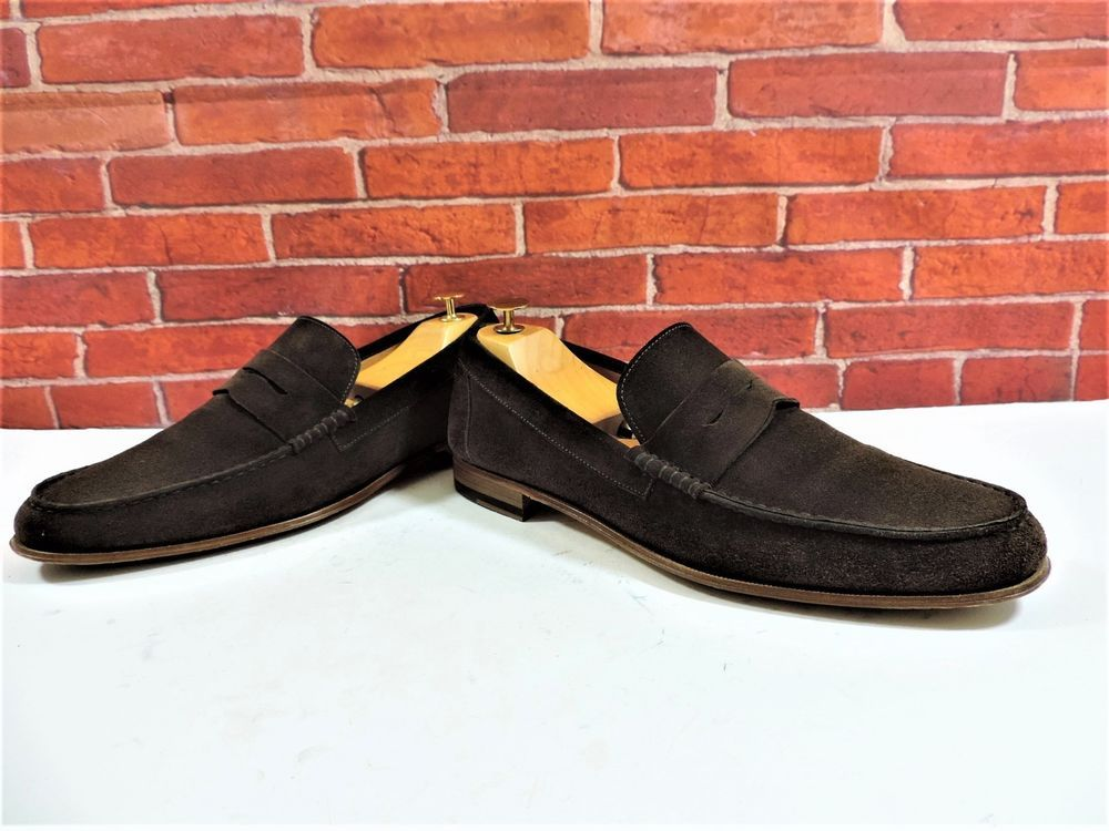 26a21602730 eBay  Sponsored Paul Smith Suede Penny Loafers UK 8 US 9 EU 42 One Brief  wear Brown Italian Made. Find this Pin and more on Men s Shoes ...