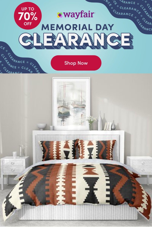 Photo of Dakota Fields Mediterranean Comforter Set, Sherpa/Polyester/Polyfill/Velvet in Rust/Charcoal/Ivory   Wayfair   Home Decor