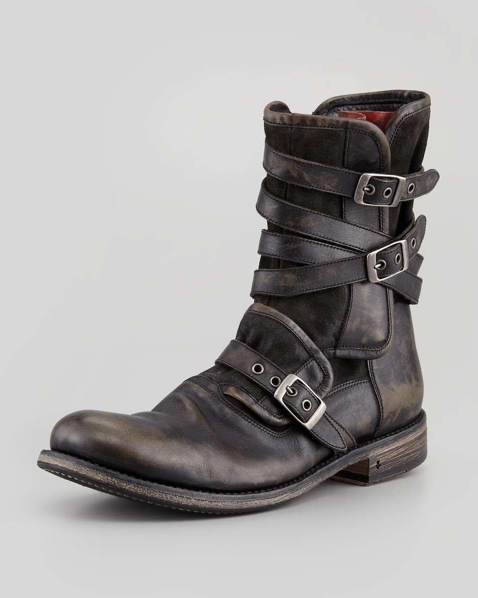53b8b47c4e1c John Varvatos Multi-Strap Buckle Boot, Charcoal   Mens wearables ...