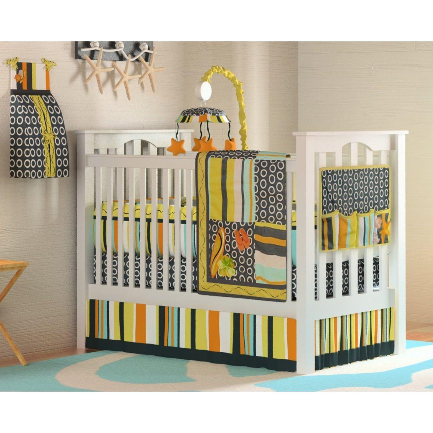 10pc Beach Surf Baby Crib Bedding Set