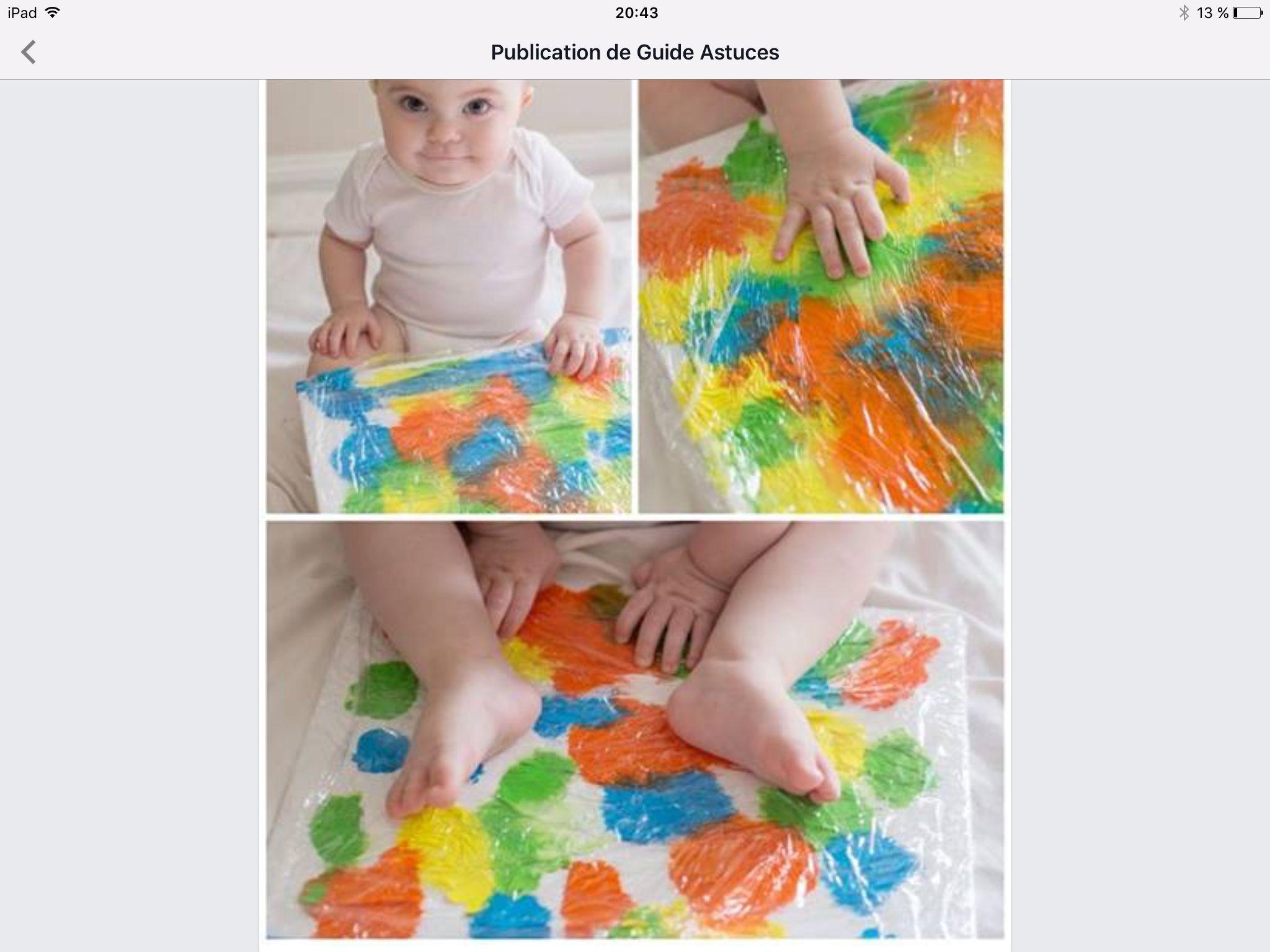Peinture non salissante Mettre de la peinture sur une feuille