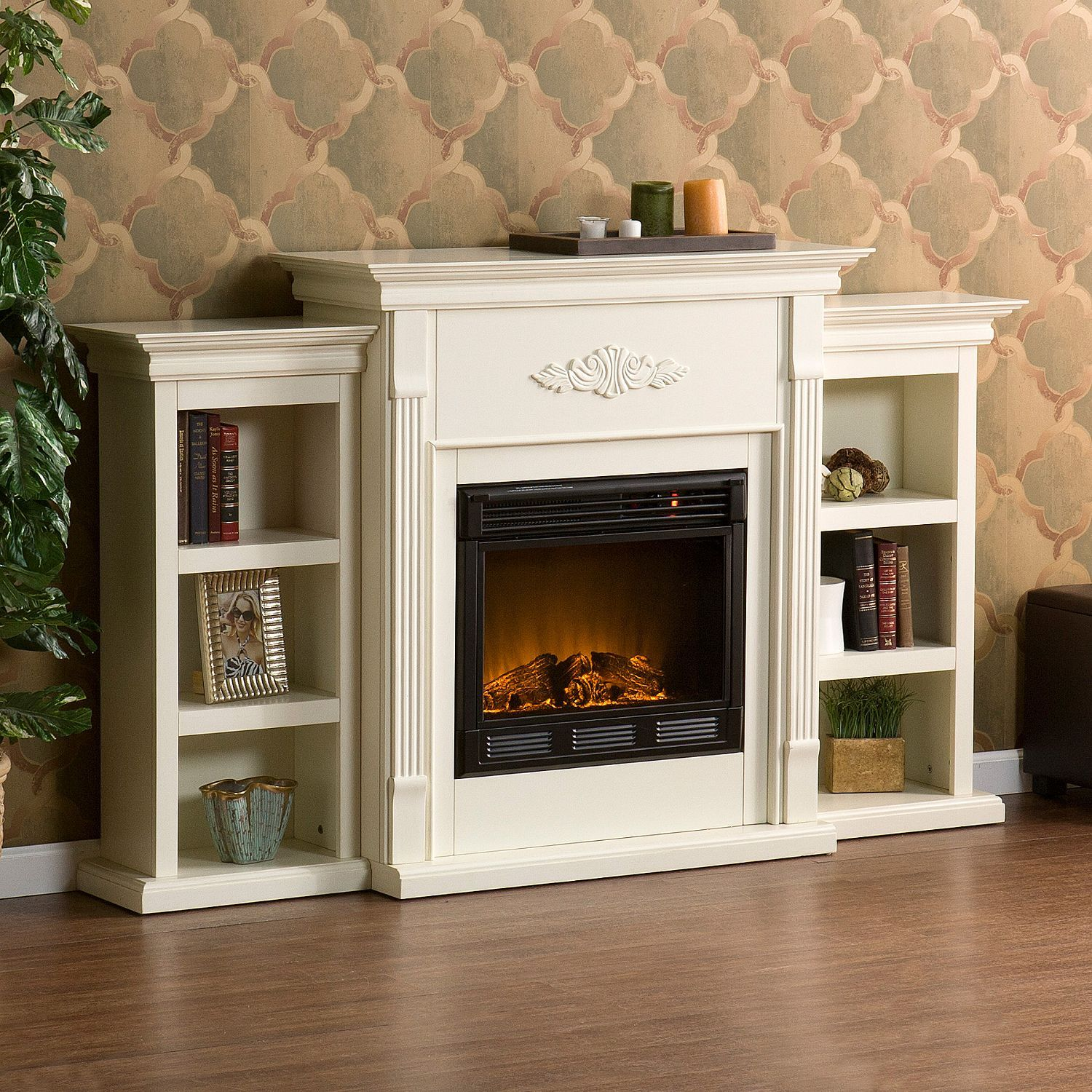 emerson electric fireplace ivory sam s club furniture finds