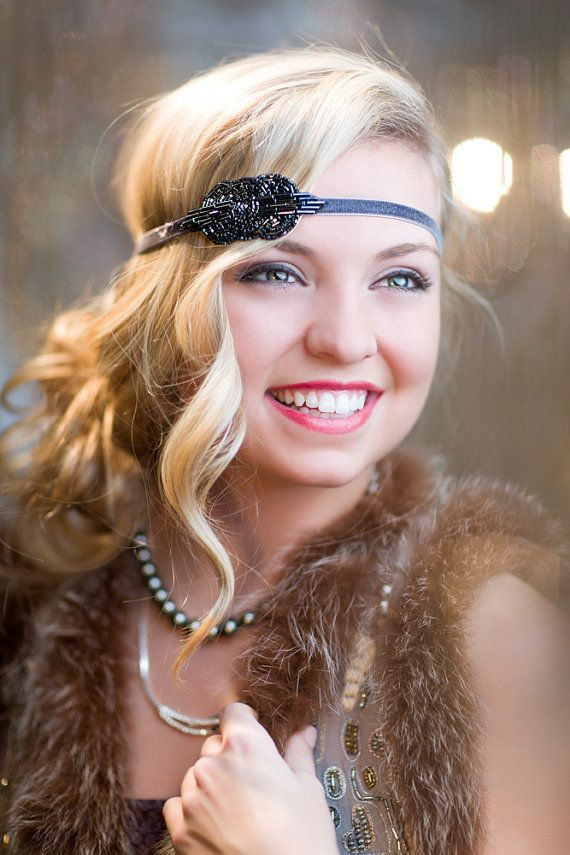 Fine 1920S Flapper Headpiece The Great Gatsby Headband Art Deco Hairstyle Inspiration Daily Dogsangcom