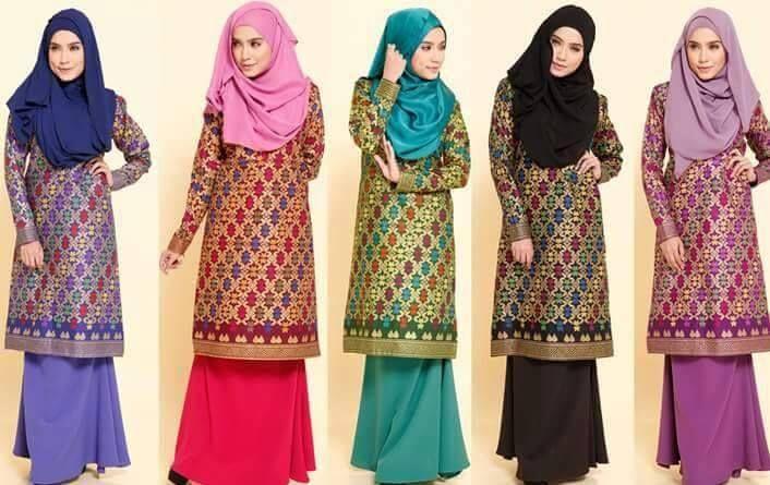Foto Fashion Baju Batik Songket Sarawak Trend Model