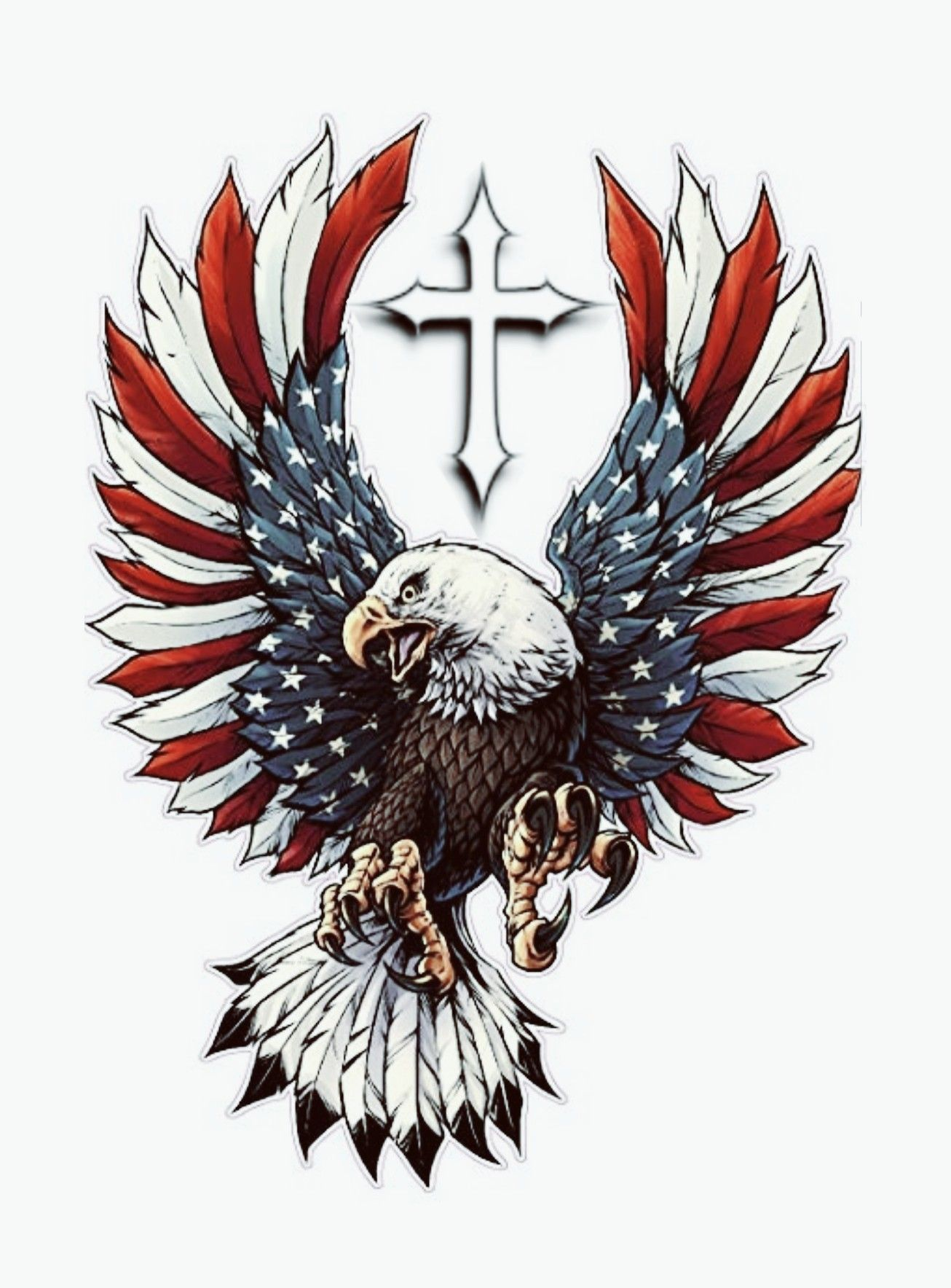 Patriotic Eagle Flag Drawing American Flag Drawing American Flag Tattoo