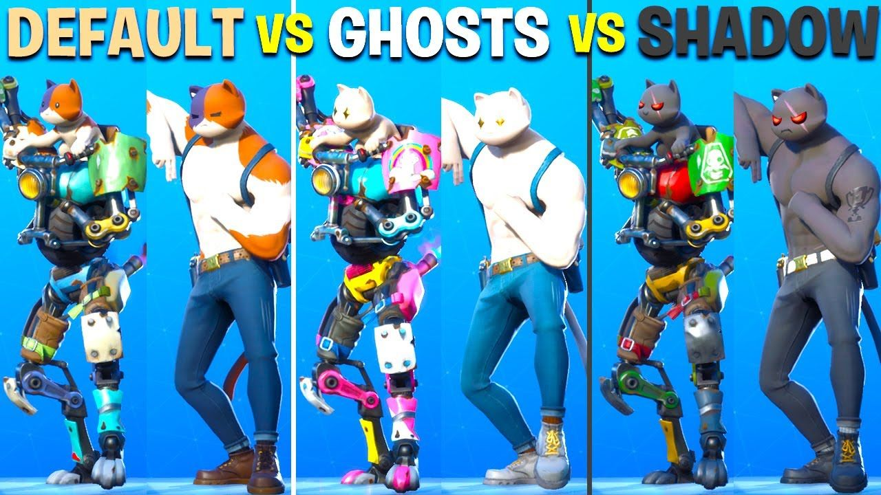 Ghost Vs Shadow In Fortnite Dance Battle Kit Meowscles Wildcard Beac Cute Baby Animals Star Wars Images Shadow