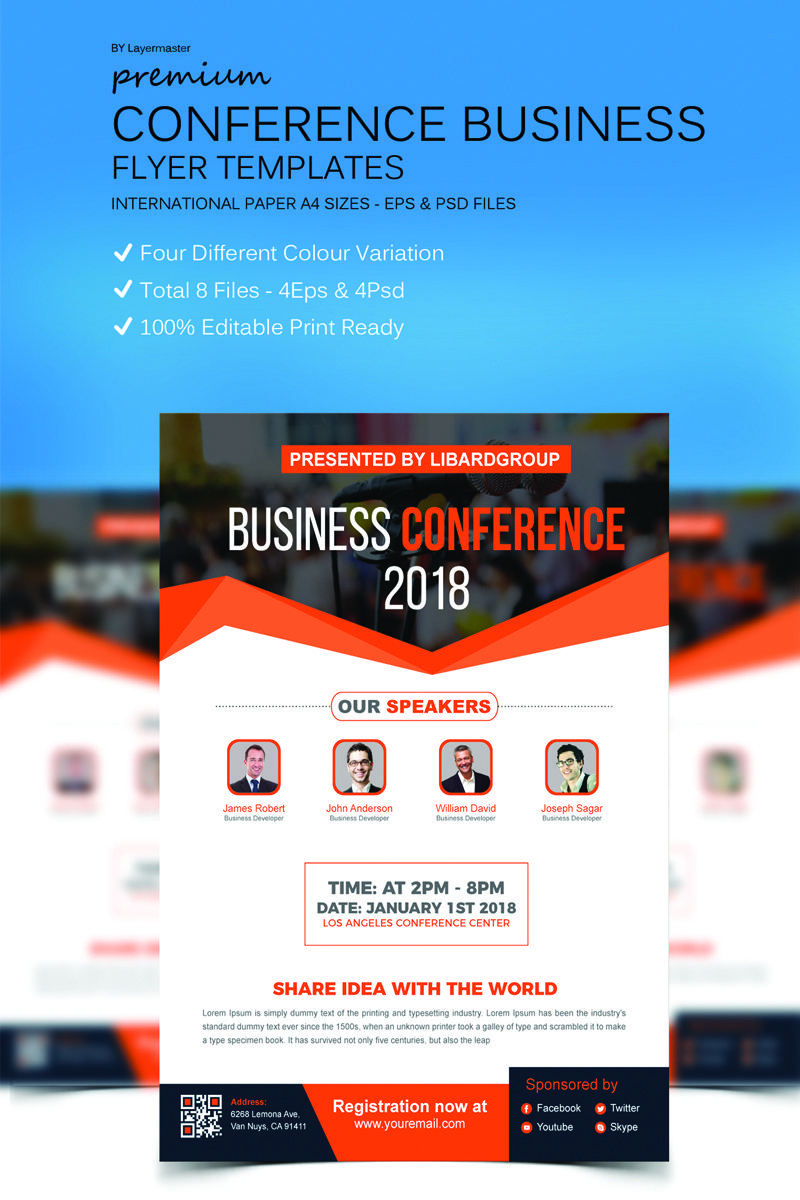 business conference flyer corporate identity flyer design