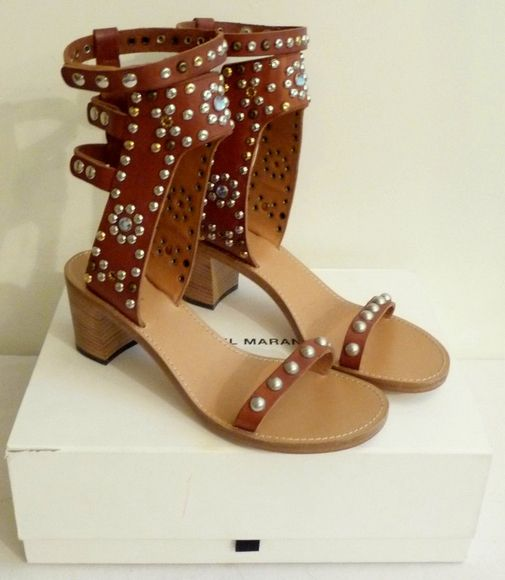 studded strappy sandals - Brown Isabel Marant Where To Buy Cheap Real 0EUaE9