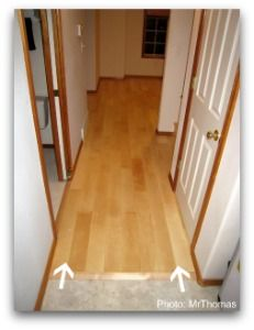 Hardwood Flooring Hallway Direction