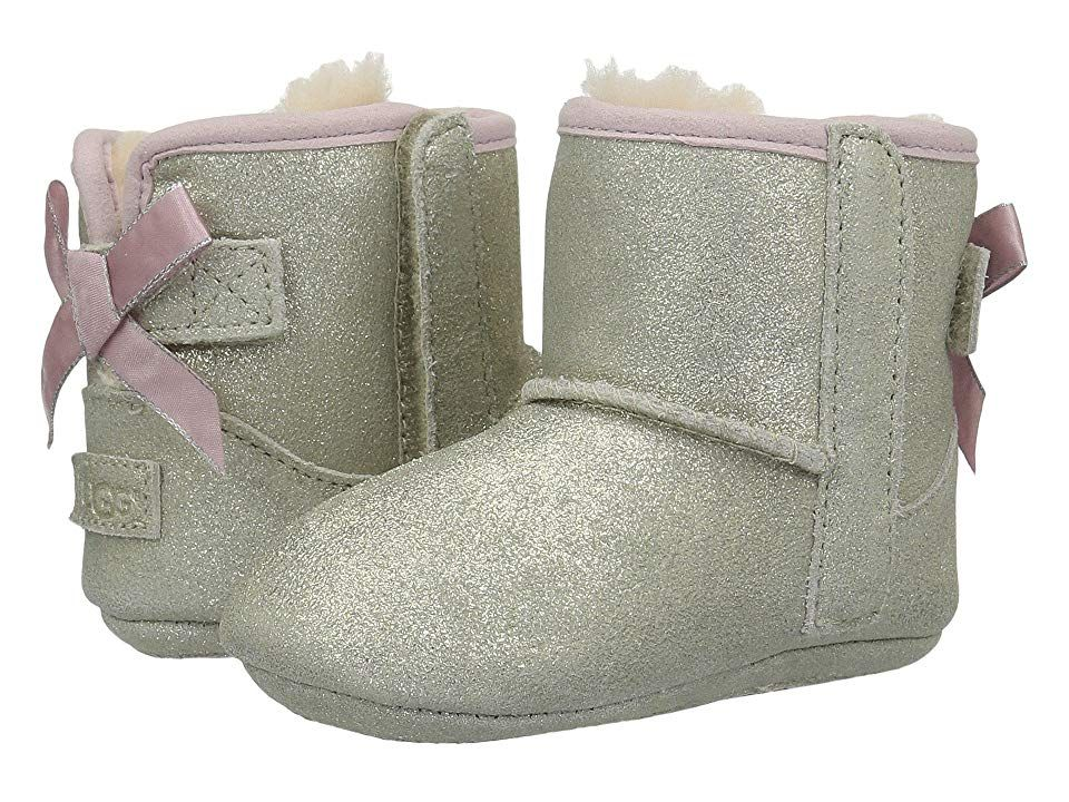 1ee867d5906 UGG Kids Jesse Bow II Metallic (Infant/Toddler) Girls Shoes Gold in ...