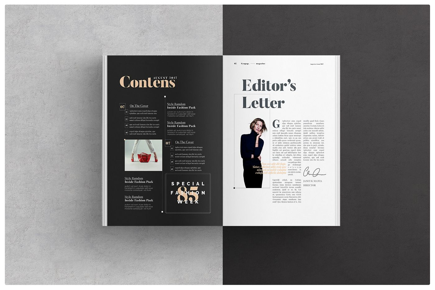 LOOKBOOK TEMPLATE BROCHURE FOLIO MODERN MAGAZINE HIPSTER BOHO PHOTOGRAPHY FASHION PORTFOLIO PUBLICATIONS CLEAN SIMPLISTIC MINIMALIST INDESIGN DESIGN